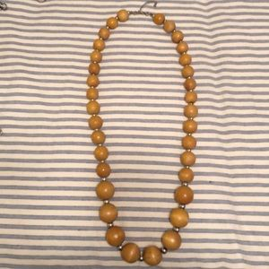 Jewelry - Yellow wooden bead necklace